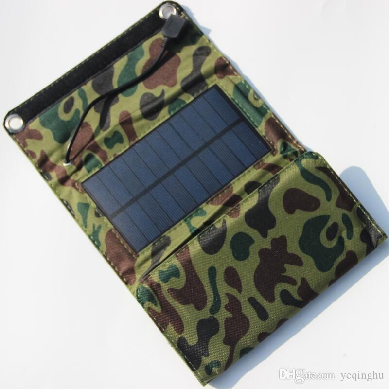 NEW 5.5V 5W طوي تعمل بالطاقة الشمسية شاحن USB الناتج لشحن الهواتف المحمولة شاحن للطاقة الشمسية لبنك الطاقة المتنقلة شحن مجاني
