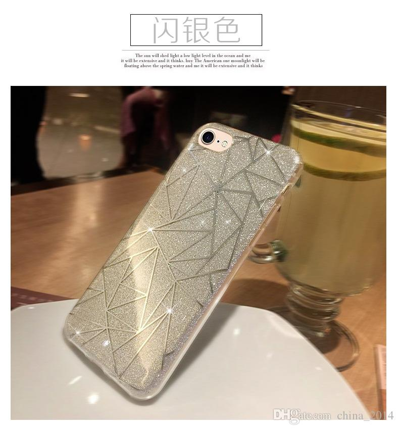 TPU case for iphone 7 iphone 7plus 6 6plus fashion luxury Flashes case by DHL with opp package new arrival