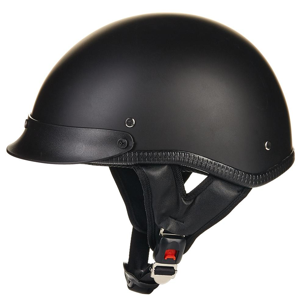 Wholesale- ILM 1/2 Open Face Motorcycle Helmet DOT Approved Unisex Quick Release Skull Cap Low Profile Half Helmet Vintage Black S M L XL