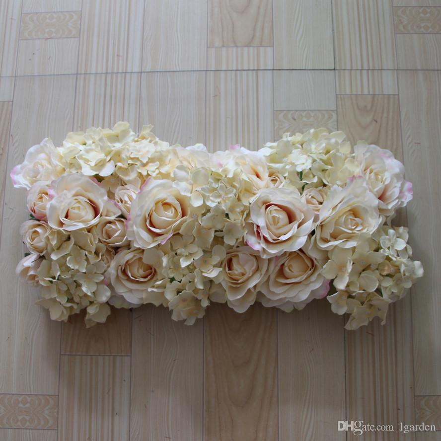 NEW wedding road lead artificial silk rose and chrysanthemum for Wedding  arch square pavilion corners decorative 10pcs/ lot