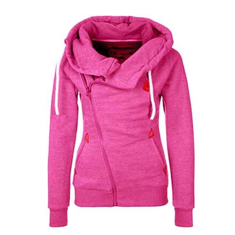 New design hoodies for women zipper long sleeve high neck women clothes plus size ladies' Sport Hoodies S-XXL ouc2031