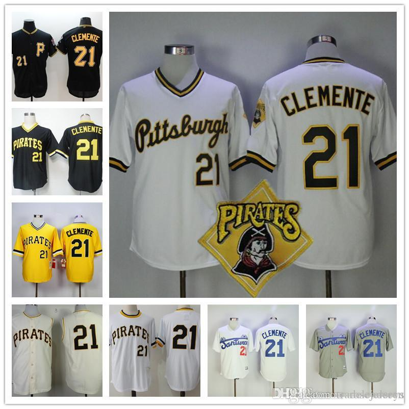 best sneakers 57010 70b62 pittsburgh pirates 21 roberto clemente 1971 yellow throwback ...