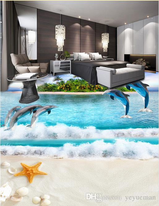 3d Flooring Mural Wallpaper Custom Self Adhesive Wallpaper Ocean 3d Floor  For Living Room Bedroom Wallpaper Animation Wallpaper Art Wallpaper From  Yeyueman, ...