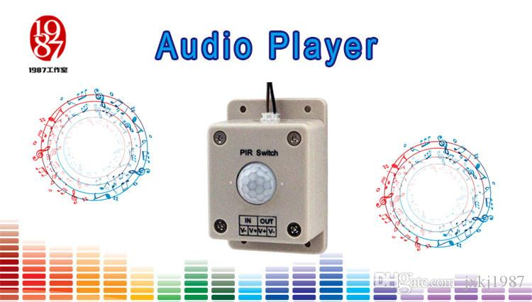 Takagism game audio sound player prop real llive room escape play sound when detect human play audio music to create atmosphere
