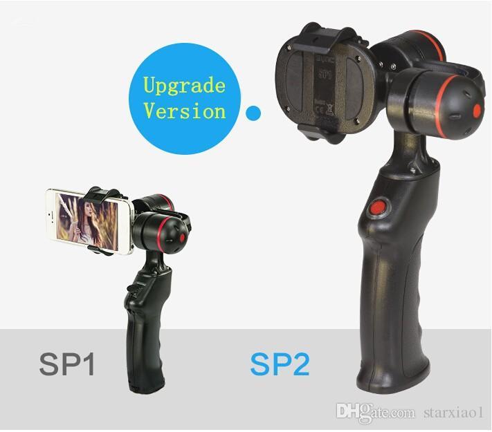 WenPod 360 Grad SP2 2-Achsen-Gimbal-Stabilisator-Video-Handheld 2-Achsen-Gimbal-Steadicam für iPhone 6 7 plus Android-Smartphone
