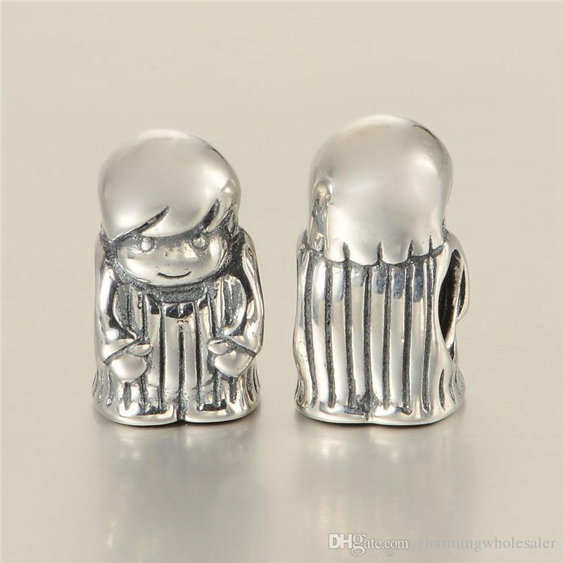 925 Baby boy charms S925 sterling silver fits for pandora bracelets LW563