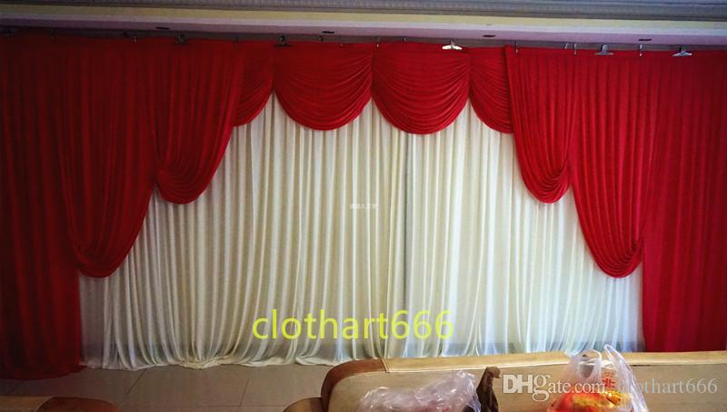 2019 3m 6m Backdrop With Swag Wedding Backcloth With Swags