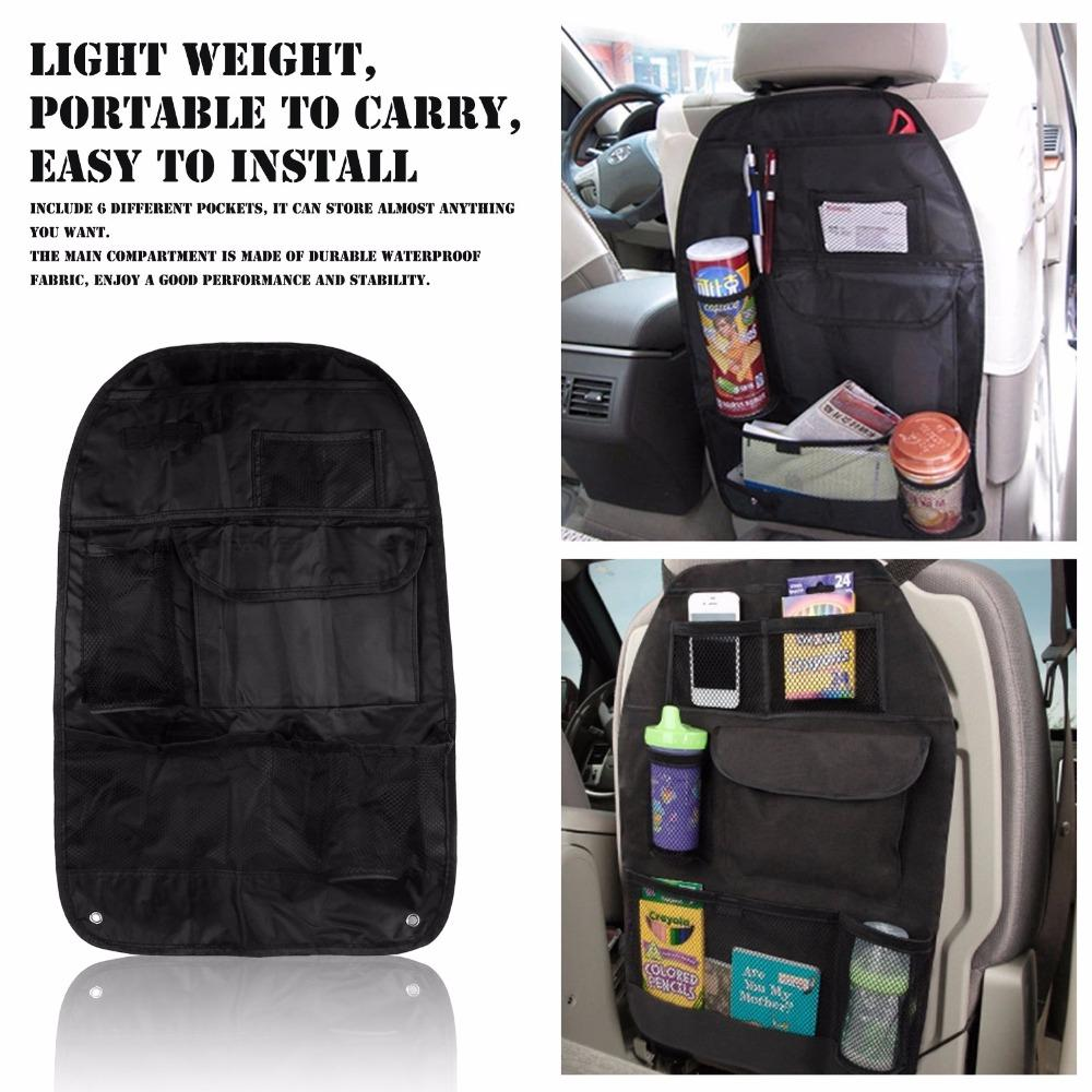 Wholesale Waterproof Car Seat Bag Storage Multi Pocket Auto Back Organizer With Mesh Pockets Drinks Holder 5738CM Best Phone For