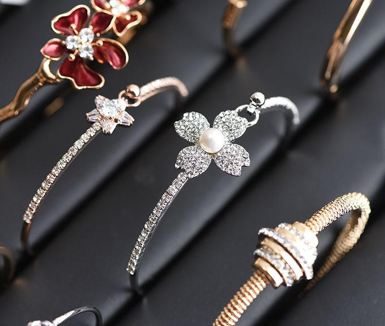 Mixed styles 925 Silver/18K Gold Plated crystal Bracelets High quality and Exquisite Fashion wristband jewelry