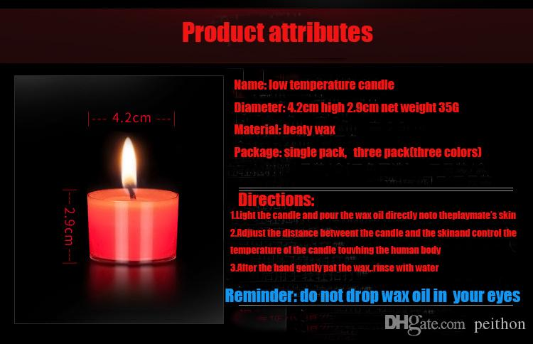 Low temperature Massage candle,three colors,single pack, three pack.Sex Toys For Couple Flirt Candle Sex Toys for Adult Games.