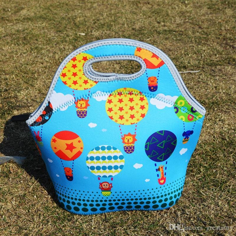 أطفال أكياس الغداء 8 أنماط الشمس النقاط الملونة الكرة الأطفال المطبوعة وجبة خفيفة أكياس الفتيان والفتيات والطرود الغذائية للأطفال ذات نوعية جيدة خارج حقائب اليد