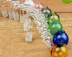 Bunter Glaskochtopf / hademade Glas Wasserpfeifen Zubehör / Raucherzubehör mit 8mm Anschluss für 14.4 mm Joint Glaspfeifen 10 Stück