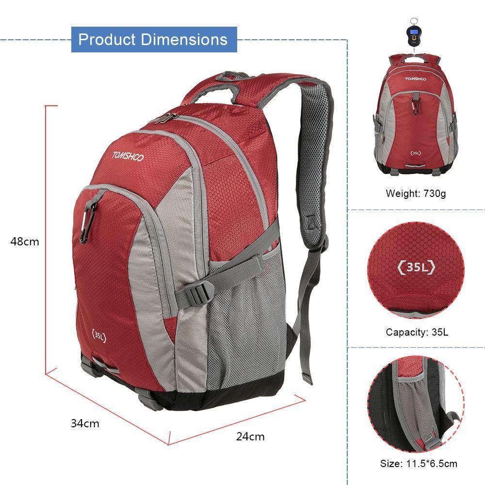 TOMSHOO Professional Climbing Bags 최고 품질 35L 야외 스포츠 하이킹 캠핑 배낭 여행 숄더 백 배낭 가방