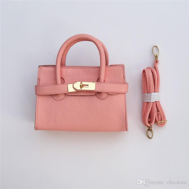 9 가지 색상 새로운 도착! 어린이 패션 가죽 핸드백 아이의 새로운 totes 키즈 미니 지갑 유치원 소녀 어깨 가방 지갑 CM017