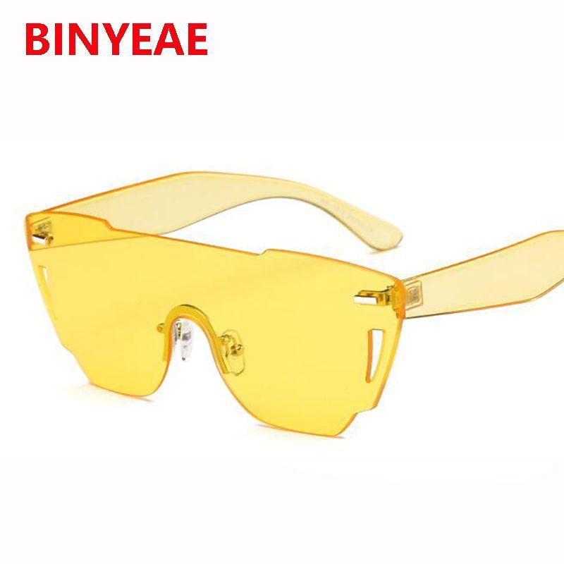 Compre Gafas De Sol Amarillas Gafas De Sol Sin Marco Gafas De Sol ...