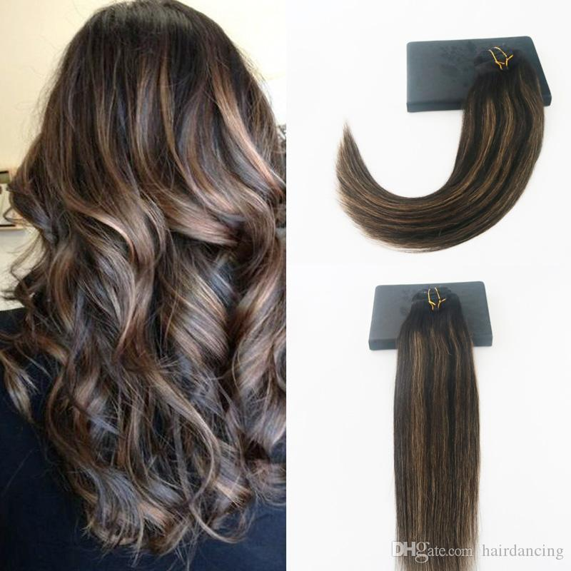 High Quailty Brazilian Remy Hair 1b61b Balayage Color 14 24