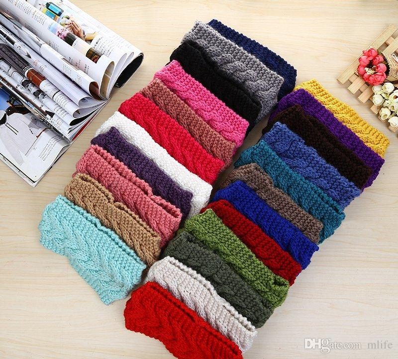 Winter Beauty Fashion Flower Crochet Knit Knitted Headwrap Headband Ear Warmer Hair Muffs Band Q1