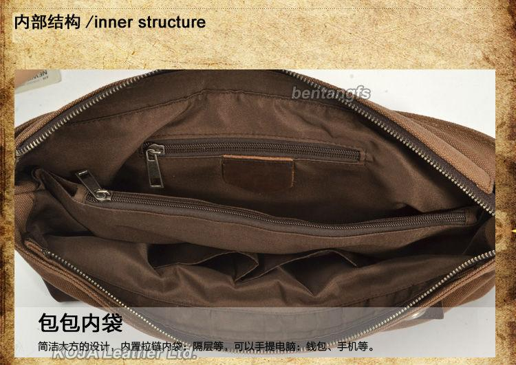2016 Fashion Leather Briefcase Men Genuine Leather Messenger Bag Shoulder bag for men Crossbody Bag Tote Handbag