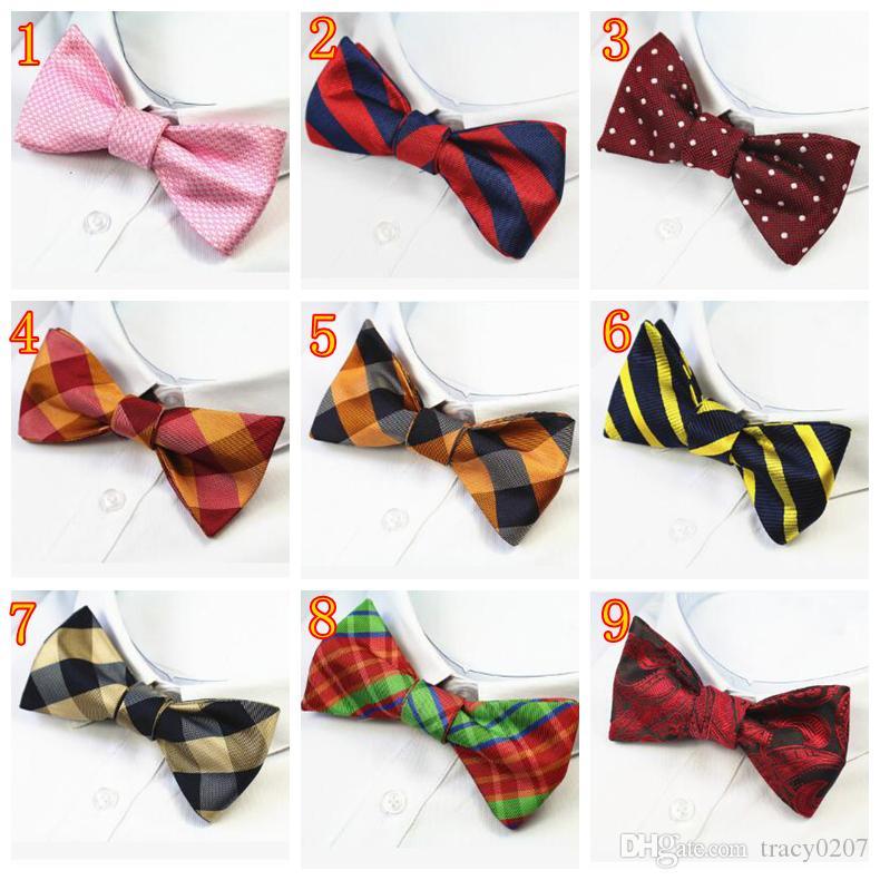 37 ألوان رجل العلاقات القوس الذاتي 100٪ الحرير جديد فاخر عادي ربطة ربطة الفراشات نويود بابيلون الأعمال الزفاف متعدد الألوان