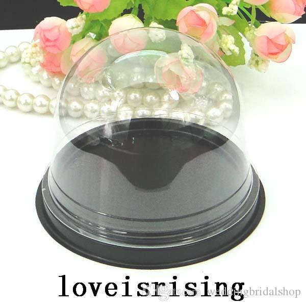 =Clear Plastic Cupcake Cake Dome Favors Boxes Container Wedding Party Decor Gift Boxes Wedding cake Boxes Supplies