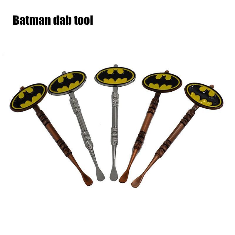 Hot Sale Wax Dabber tool with Pokeball Batman Captain superhero Flash and Skull Design stickers wax jar Dab tool 120mm free ship