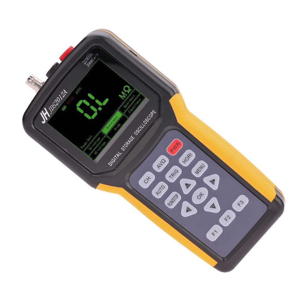 de mano de múltiples funciones digital 1 canal de osciloscopio portátil Alcance Meter 20MHz 200MSa / s lógica del multímetro de 4000 cuentas Analizador