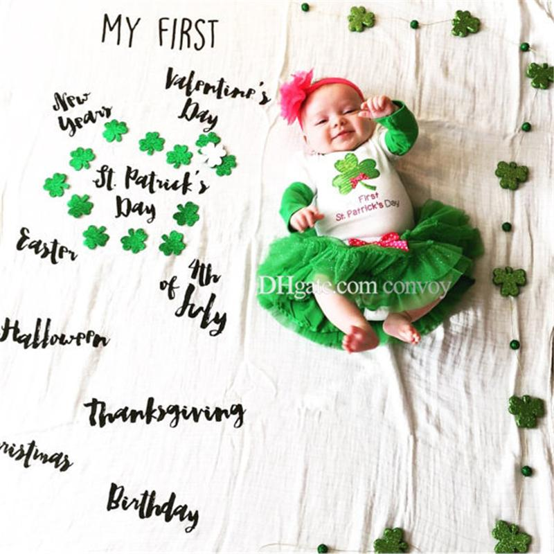 29 types newborn baby photography background props baby photo fabric backdrops infant blankets wrap letter flower numbers print cloth BHB26