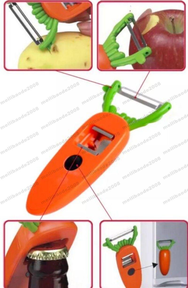 Hot Sale New Arrival Creative Carrot Design Kitchen Gadgets Fruit Tools Multifunctional Fruit peeler Bottle Opener MYY