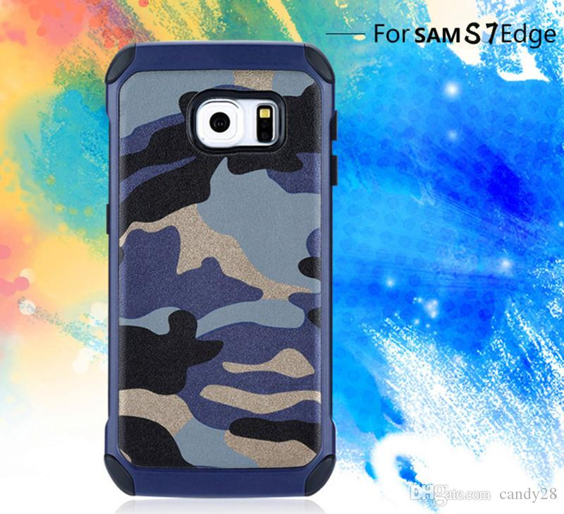 sale retailer 1cb89 b6e75 For iphoneX 8 7 plus Camo Camouflage Phone Case Hybrid TPU PC leather Armor  Cover cases for iphone6 plus i5s Samsung S8 plus S6 S7 edge