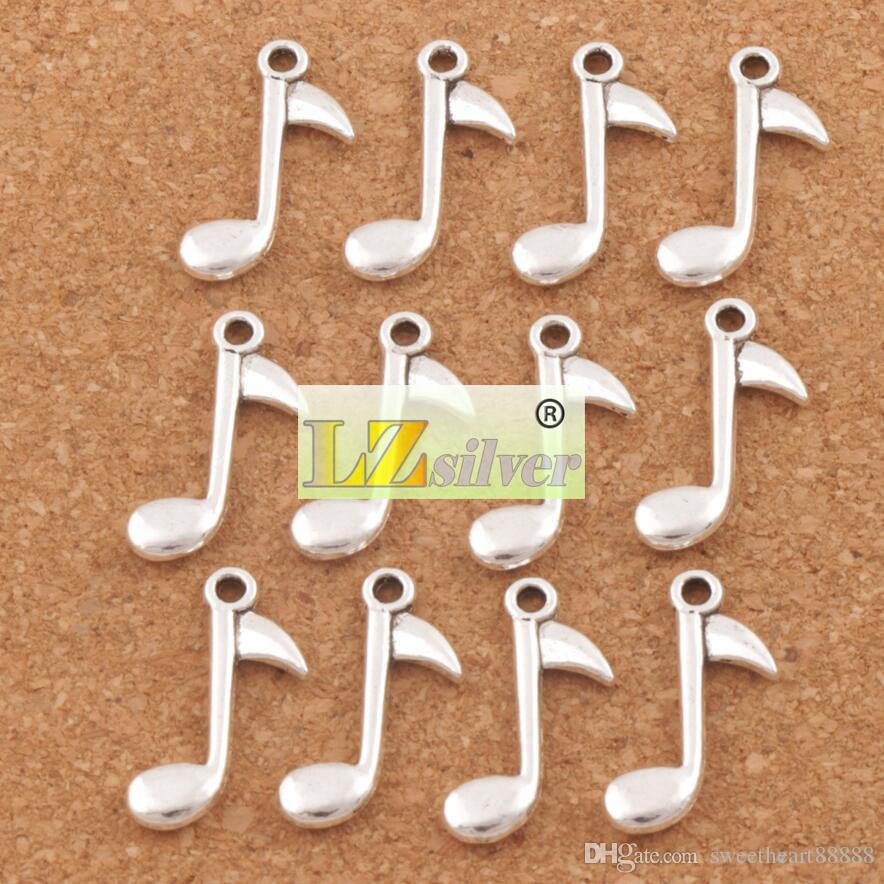 Achtste noot muziek charms hangers / 23.2x14.8mm antieke zilveren sieraden DIY L238 MIC hot verkopen