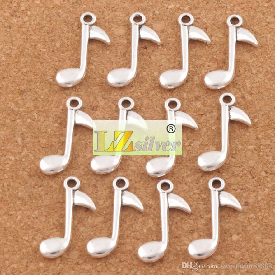 Oitava Nota Encantos Da Música Pingentes 150 pçs / lote 23.2x14.8mm de Prata Antigo Jóias DIY L238 mic venda Quente