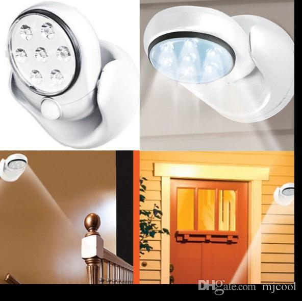 360 degree rotation 7LED human body sensor lamp bedroom night light cabinet wardrobe lamp corridor ceiling light
