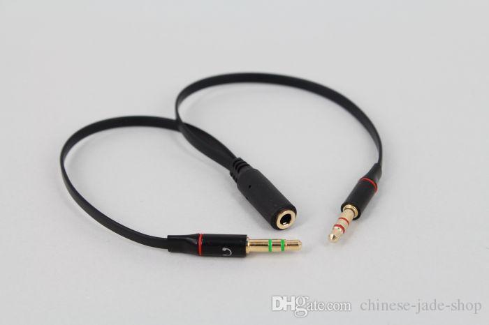TPE AUX 3.5mm Computer Microfoon Hoofdtelefoon Adapter 1 Mannelijke Naar 2 Vrouwelijke Microfoon Plug + Hoofdtelefoon Plug Y Splitter Extend AUX AUDIO CABLE 100P