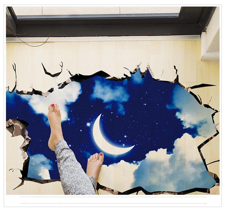Forest Animals Wall Sticker Decor DIY Wallpaper Art Decals Deer Wolf Moon for Bedroom Room Home Decoration