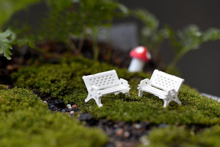 2018 Fairy Garden Ornament Decoration Resin Crafts Diy Bonsai Terrarium  Figurines Mini Garden Accessories Mini White Chair From Novelty_1, $3.17 |  Dhgate.