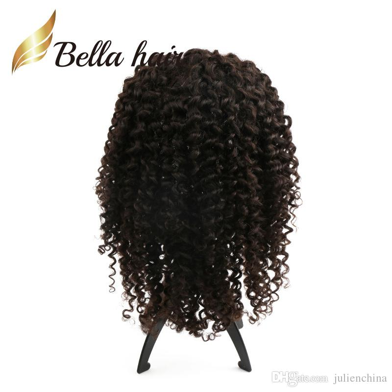Cute Children Wigs Deep Curly 8-24inch Customized Small Cap Size Elastic Back Band Kids Full Lace Wigs Full Hand-Tied Curly Hair Lace Wig