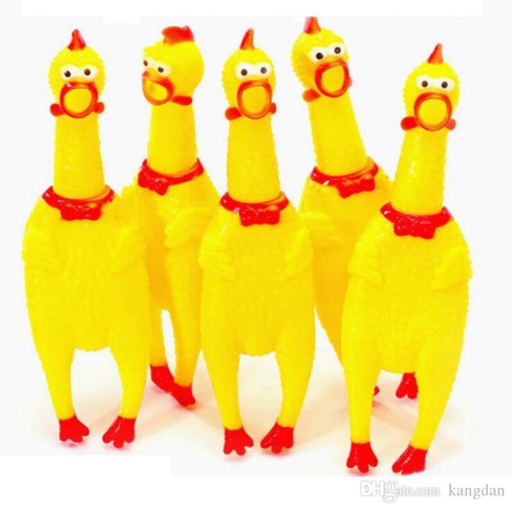 pet dog toys Urlando pollo cucciolo cane Suono giocattolo Divertente Animali giocattolo Shrilling pollo domestico mastica giocattolo strumento di decompressione