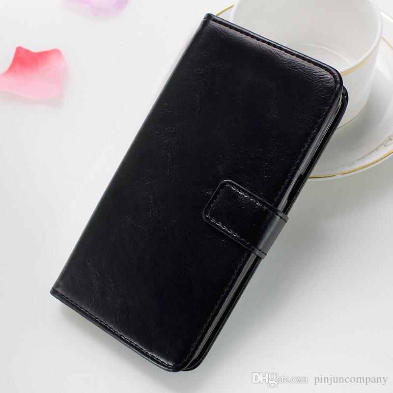 Deri Cüzdan Kılıf ZTE Avid 4 MetroPCS Için Tempo x N9137 boost LG Aristo 2 MetroPCS LG Fortune flip kredi kartı fotoğraf
