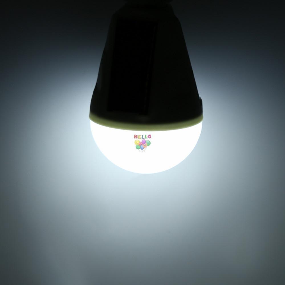 Корабль в 1 день + 7 Вт E27 висит солнечной энергии аккумуляторная аварийный светодиодные лампы дневного света IP65 водонепроницаемый панели солнечных батарей питание ночник