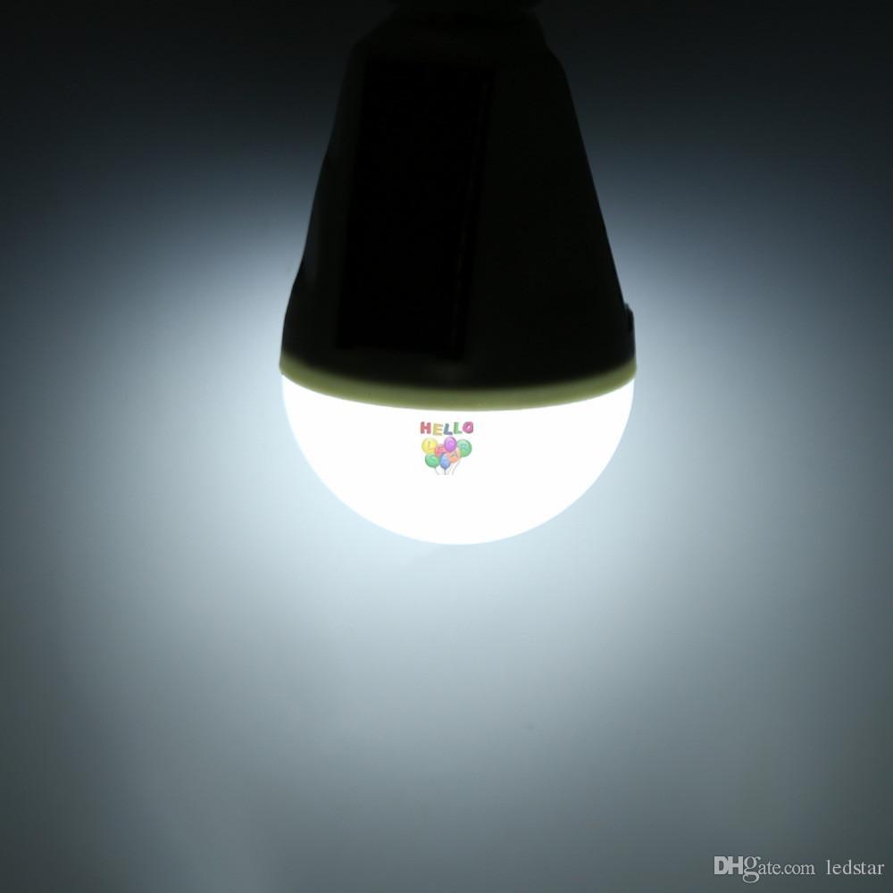 E27 7W 태양 램프 85-265V 에너지 절약 빛 LED 지능형 램프 충전식 태양 비상 전구 일광