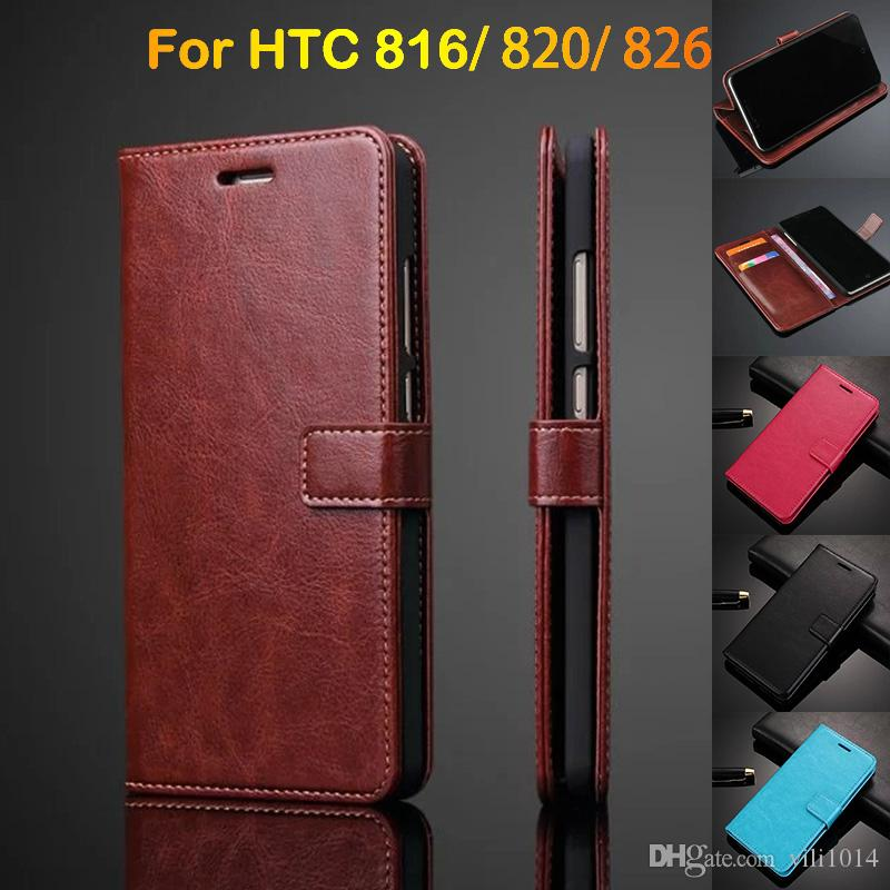low priced c663c 1d80d For HTC desire 820 816 826 Luxury Retro Vintage Wallet Flip PU leather Case  Cover With Credit Card Slot Pouch