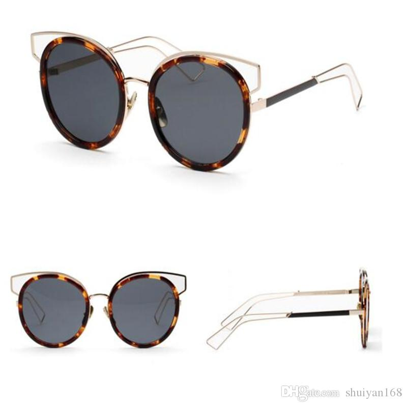 e729adc7d49 Vintage Round Shades Sunglasses Designer For Women Cat Eye Womens Sunglasses  Wholesale Luxury Brand Summer Fashion High Quality Frog Mirror Heart Shaped  ...