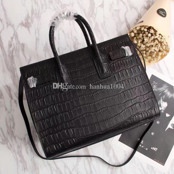 Venta al por mayor de calidad superior venta caliente moda mujer cuero genuino bolso de cocodrilo grano Sac De Jour bolso de hombro 324823