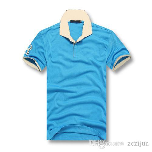 2018 2017 Fashion Men Casual Shirts Cheap Summer Sport Polo T ...