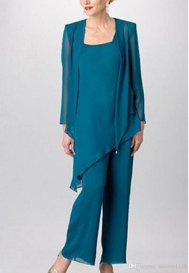 Summer Mother Of The Bride Pant Suits For Wedding Vintage