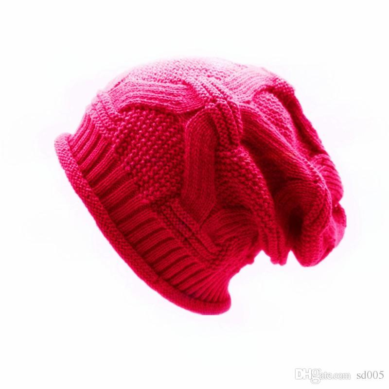 Para Homens E Mulheres Chapéu De Malha Sólida Cores Tampas De Hedging De Lã Sarja Curling Projeto Outono E Inverno Gorro Venda Quente 8yx B