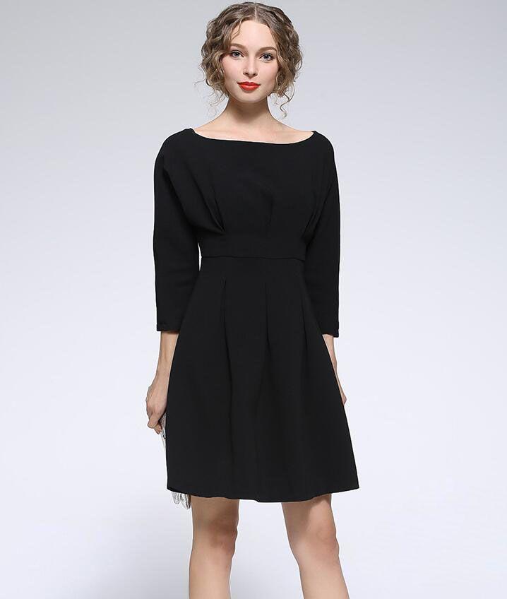 Spring Women Plus Size Dresses Casual Lady Office Pencil Dresses Wide Neck Fashion Women Dresses