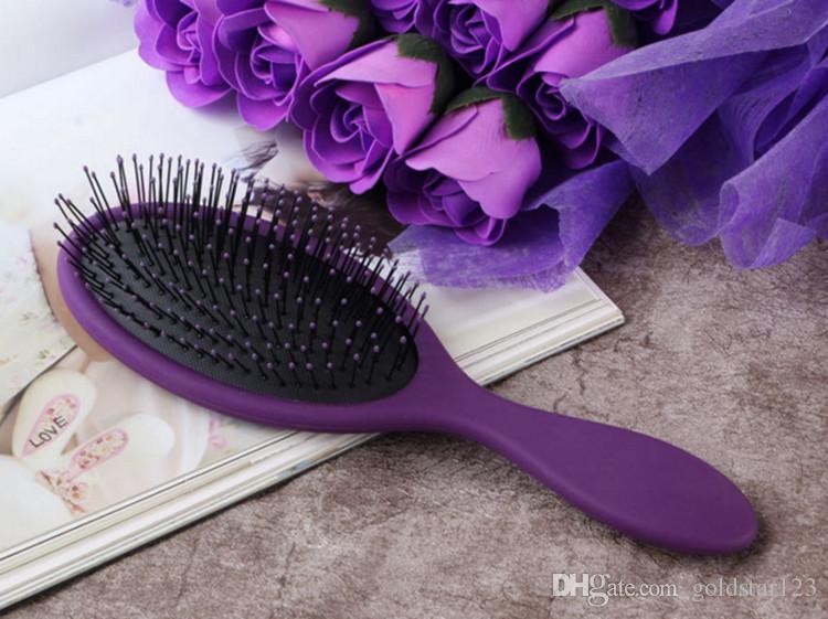 Dropshipping Cepillo de pelo seco mojado caliente Peine de pelo original del cepillo del pelo del detangler con los peines de los airbags para el cepillo de la ducha del pelo mojado