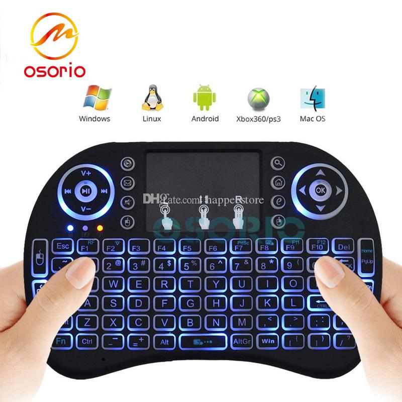 c1425a2a915 Backlit Rii I8 2.4GHz Wireless Fly Air Mouse Gaming Handheld Controller  Mini Keyboards Multi Color Remote Control For Mini PC Android TV Box  Picture Of ...