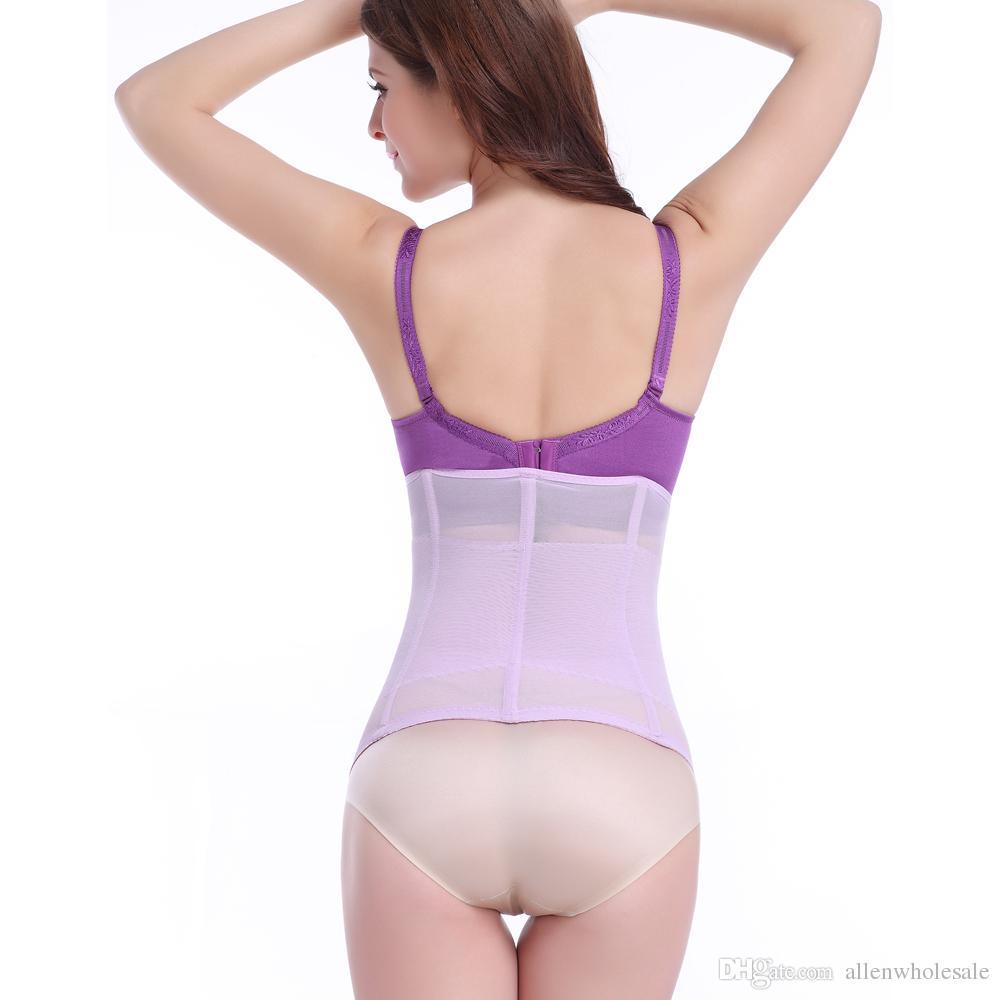 New Body Girdles Magic Abdomen Postpartum Belly Band Women Body Shaper Waist Cincher 18 Rows Hooks Black Nude Purple XS-XXXL